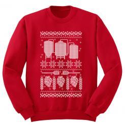 Ugly Christmas Sweater - Fleece Sweatshirt - Red Ink Athletic Heather