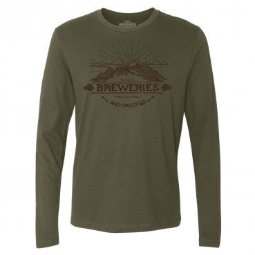 The Breweries are Calling and I Must Go Long Sleeve T-Shirt Graphic Tee