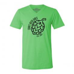 Craft Beer Girls Logo Unisex V-Neck T-Shirt Hops Graphic Tee