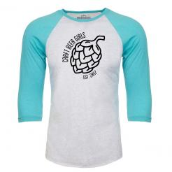 Craft Beer Girls Logo Unisex Triblend 3/4 Sleeve Raglan Baseball Jersey