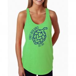 Craft Beer Girl Logo Neon French Terry Tank