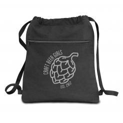 Craft Beer Girls Logo Canvas Backpack