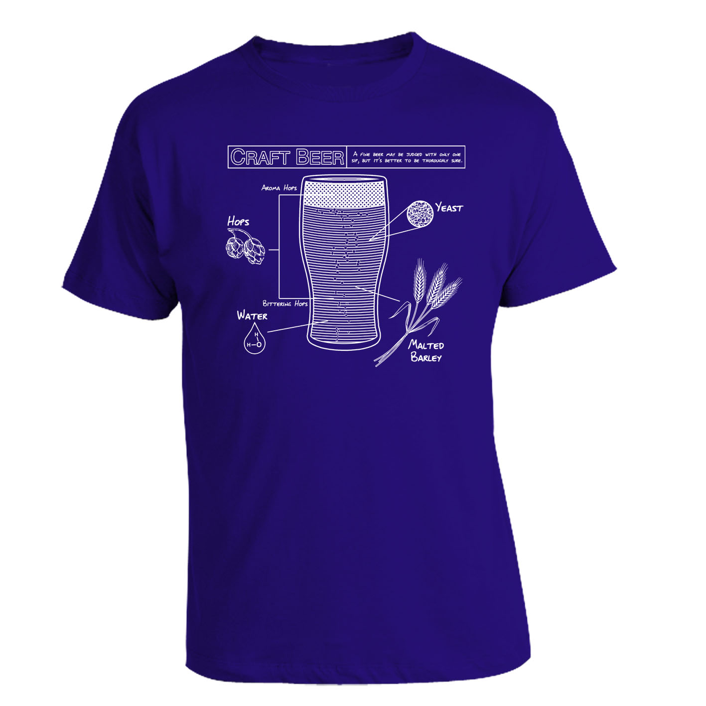 craft beer blueprint t shirt