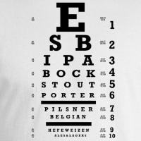 Beer Eye Chart T-shirt
