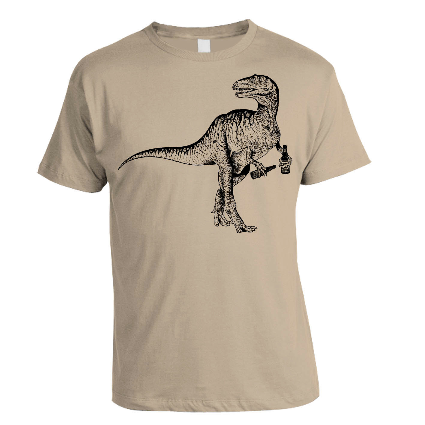beer drinking dinosaur t shirt. Black Bedroom Furniture Sets. Home Design Ideas