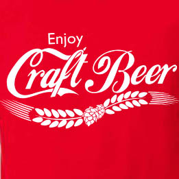 Enjoy Craft Beer Red Graphic Tee