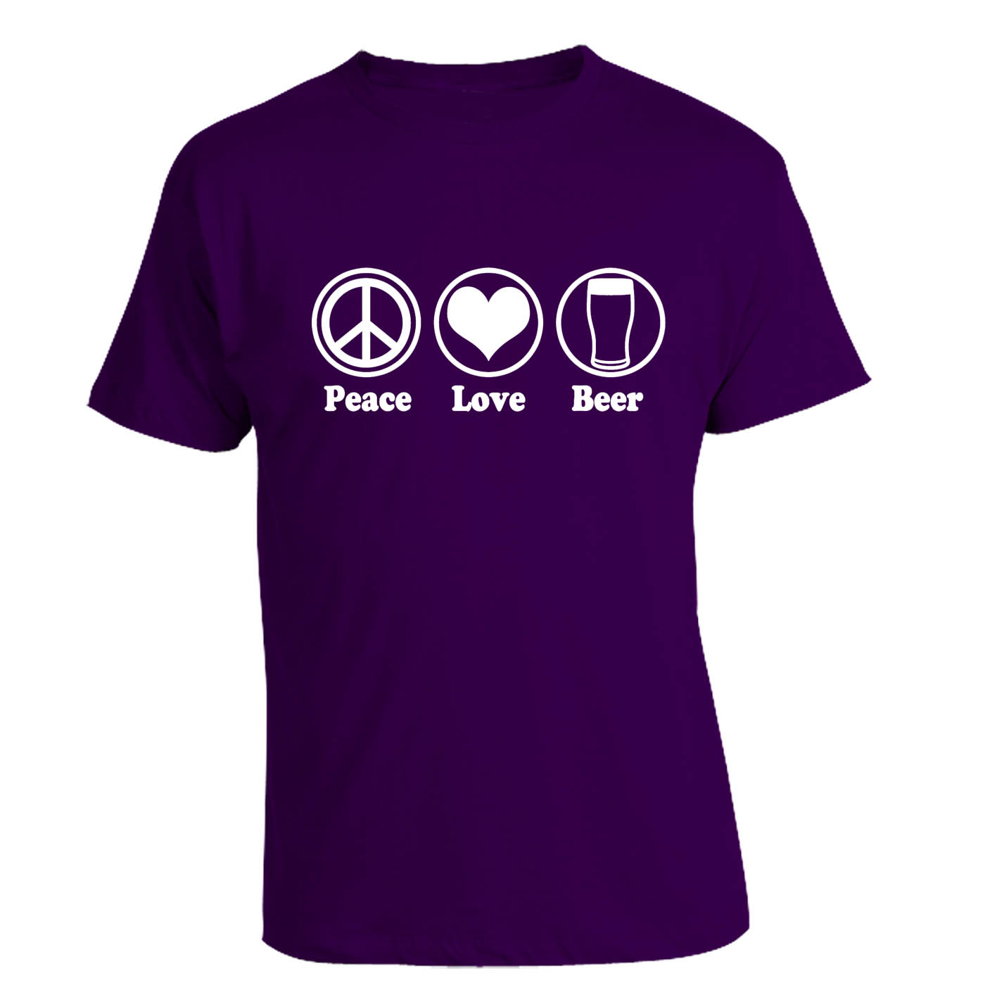 peace love beer t shirt. Black Bedroom Furniture Sets. Home Design Ideas