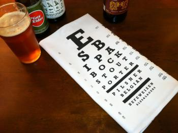 Eye Chart Bar Towel
