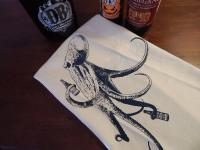 Beer Drinking Octopus Bar Towel