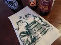 Beer Drinking Frogs Bar Towel