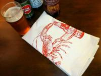 Beer Drinking Lobster Bar Towel