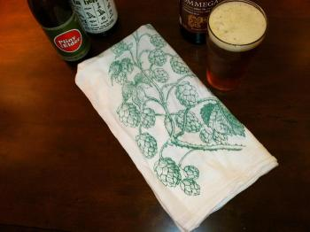 Hops Vine Bar Towel
