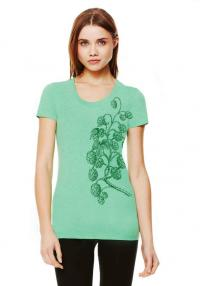 Hops Vine Women's Green Triblend Tee