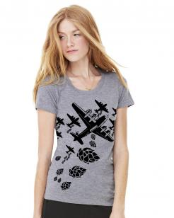 Hop Bomber Women's Graphic Tee