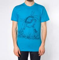 Beer Drinking Crab Graphic Tee